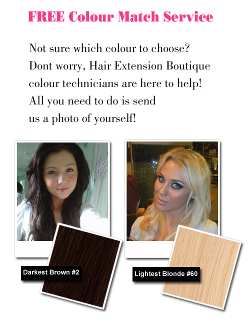 Hair Extension Colour Match Service
