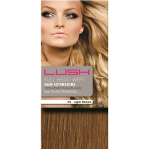 "20"" DIY Weft (Clips Not Attached) Human Hair Extensions #8 Light Brown"