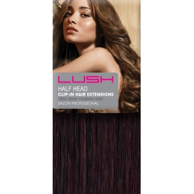 "18"" Clip In Human Hair Extensions Half Head #99J Deep Red Wine"