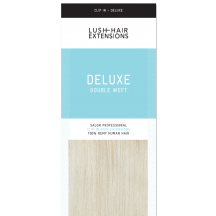 """22"""" Deluxe Double Wefted Clip In Human Hair Extensions #90 Platinum Blonde"""