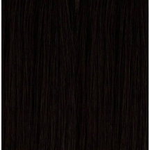"20"" Holly Hagan Clip In Human Hair Extensions #1 Jet Black"