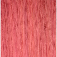 "18"" Deluxe Double Wefted Clip In Human Hair Extensions #PINK"