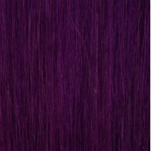 "18"" Deluxe Double Wefted Clip In Human Hair Extensions #PURPLE"