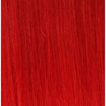 "18"" Deluxe Double Wefted Clip In Human Hair Extensions #RED"