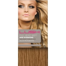 "20"" DIY Weft (Clips Not Attached) Human Hair Extensions #10 Lightest Brown"