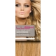"16"" DIY Weft (Clips Not Attached) Human Hair Extensions #27/613 Caramel/ Bleach Blonde Mix"