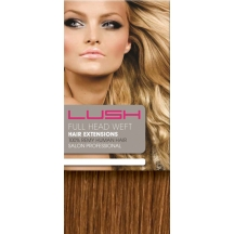 "18"" DIY Weft (Clips Not Attached) Human Hair Extensions #30 Light Auburn"
