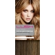 "22"" Clip In Human Hair Extensions FULL HEAD #6/27 Medium Brown/ Caramel Mix"