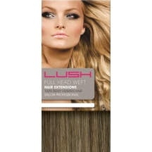 "18"" DIY Weft (Clips Not Attached) Human Hair Extensions #8/27 Light Brown/ Caramel Mix"
