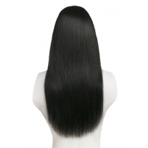 "18"" Deluxe 3/4 Hair Piece #1 Jet Black"