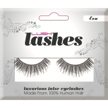 Lush 100% Human Hair False Eye Lashes Eva