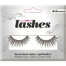 Lush 100% Human Hair False Eye Lashes - Rihanna