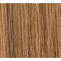 "15"" Deluxe Double Wefted Clip In Human Hair Extensions #8/27 Light Brown / Caramel Mix"