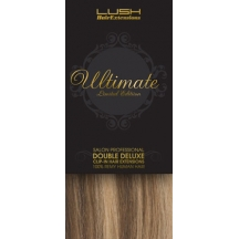 "18"" Clip In Human Hair Extensions ULTIMATE FULL HEAD #8/613 Light Brown/ Blonde"