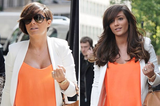 Frankie Sandford pixie hair extensions