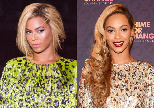 Beyonce Knowles pixie hair extensions