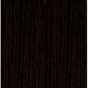 "14"" Deluxe Double Wefted Full Head Clip In Human Hair Extensions #1B Natural Black"