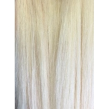 "18"" Deluxe DIY Weft (Clips Not Attached) Human Hair Extensions #90 Platinum Blonde"