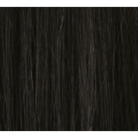 "20"" Ultimate Double Deluxe Weft (Clips Not Attached) Human Hair Extensions #1 Jet Black"