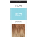 """16"""" Deluxe Double Wefted Clip In Human Hair Extensions #8/18 - Light Brown/Ash Brown ombre"""