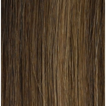 "18"" Pre Bonded Stick Tip Hair extensions #6/27 Medium Brown / Caramel - (25 Strands)"
