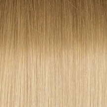 """18"""" Full Head Clip In Human Hair Extensions #18/90 - Ombre Ash Brown/Platinum Blonde"""