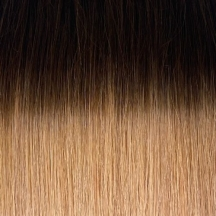 """18"""" Clip In Human Hair Extensions FULL HEAD #4/8 - Dark Brown/Light Brown Ombre"""