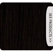 "16"" Clip In Human Hair Extensions FULL HEAD #1 Jet Black"
