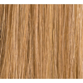 "12"" Clip In Human Hair Extensions FULL HEAD #10/16 Lightest Brown/Dark Honey Blonde"