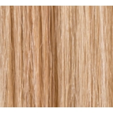 """18"""" Deluxe Double Wefted Clip In Human Hair Extensions #16/613 Dark Honey Blonde / Bleach blonde"""