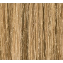 "16"" Deluxe Double Wefted Clip In Human Hair Extensions #18 Ash Brown"