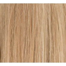 "14"" Deluxe Double Wefted Clip In Human Hair Extensions #18/613 Lightest Blonde/Bleach Blonde highlights"