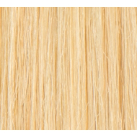 "18"" DIY Weft (Clips Not Attached) Human Hair Extensions #24 Golden Blonde"