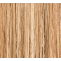 "16"" Deluxe Double Wefted Clip In Human Hair Extensions #27/613 Caramel Blonde Highlights"