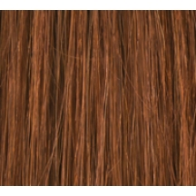 "18"" Clip In Human Hair Extensions DELUXE QUAD WEFT #30 Light Auburn"