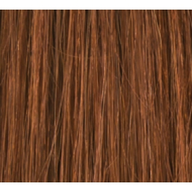 "18"" Clip In Human Hair Extensions FULL HEAD #30 Light Auburn"