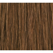 "18"" Clip In Human Hair Extensions DELUXE QUAD WEFT #6 Medium Brown"