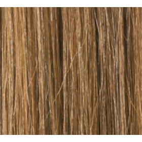 "16"" Clip In Human Hair Extensions FULL HEAD #6/27 Medium Brown/Caramel Highlights"