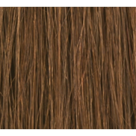 "18"" DIY Weft (Clips Not Attached) Human Hair Extensions #6 Medium Brown"