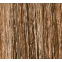 "18"" Clip In Human Hair Extensions FULL HEAD #6/613 Medium Brown/ Blonde Mix"