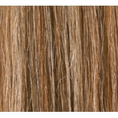 """22"""" Deluxe Double Wefted Clip In Human Hair Extensions #6/613 Medium Brown/ Bleach Blonde"""