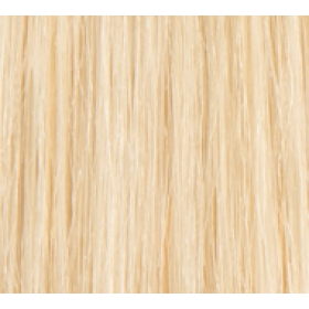 "18"" DIY Weft (Clips Not Attached) Human Hair Extensions #60 Lightest Blonde"