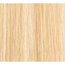 "14"" Deluxe Double Wefted Clip In Human Hair Extensions #613 Bleach Blonde"