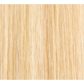 "18"" Deluxe Double Wefted Clip In Human Hair Extensions #613 Bleach Blonde"