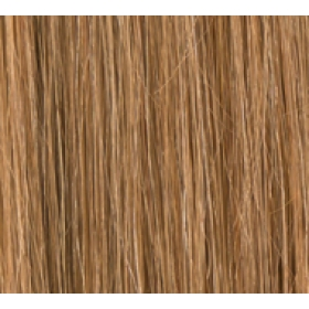 "18"" Deluxe Double Wefted Clip In Human Hair Extensions #8/27 Light Brown / Caramel Mix"
