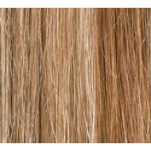 "16"" Deluxe Double Wefted Clip In Human Hair Extensions #8/613 Light Brown / Blonde Mix"