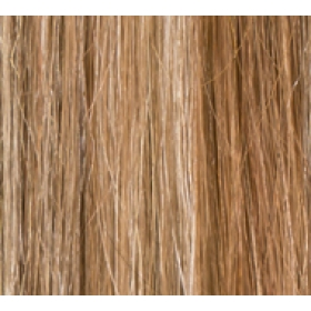 "20"" Deluxe Double Wefted Clip In Human Hair Extensions #8/613 Light Brown / Blonde Mix"