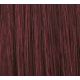 "18"" DIY Weft (Clips Not Attached) Human Hair Extensions #99J Deep Red Wine"