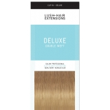 "20"" Deluxe Double Wefted Clip In Human Hair Extensions #18/90 - Ash Brown/Platinum Blonde ombre"