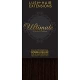 "16"" Clip In Human Hair Extensions ULTIMATE FULL HEAD #1B Natural Black"